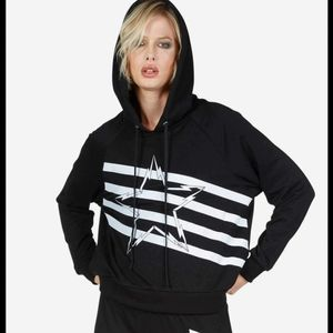Lauren Moshi Mynx Lightning Bolt Star Hoodie XS